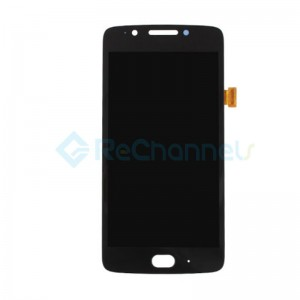 For Motorola Moto G5 LCD Screen and Digitizer Assembly Replacement - Black - Grade S