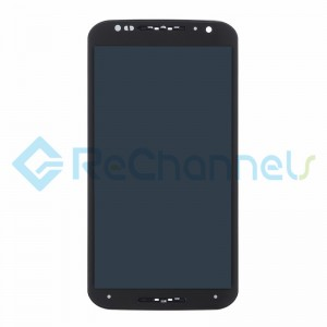 For Motorola Moto X (2nd Gen) LCD Screen and Digitizer Assembly with Frame Replacement - Black - Grade S+