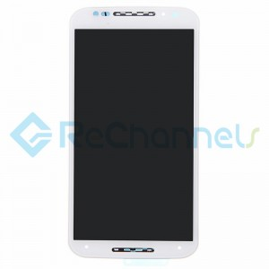 For Motorola Moto X (2nd Gen) LCD Screen and Digitizer Assembly with Frame Replacement - White - Grade S+