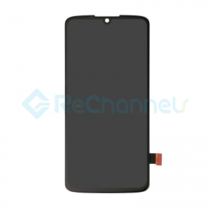For Motorola Moto Z4 LCD Screen and Digitizer Assembly Replacement - Black - Grade S+