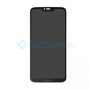 For Motorola G7 Power LCD Screen and Digitizer Assembly Replacement - Black - Grade S+ (154mm, International Version)