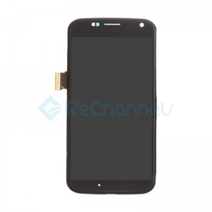 For Motorola Moto X LCD Screen and Digitizer Assembly with Front Housing Replacement - Black - Grade S+