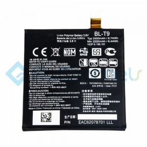For LG Nexus 5 D820 Battery Replacement (BL-T9, 2300 mAh) - Grade S+