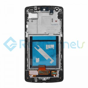 For LG Nexus 5 D821 LCD Screen and Digitizer Assembly with Front Housing Replacement (No Small Parts, White Mesh Cover) - White - Grade S+