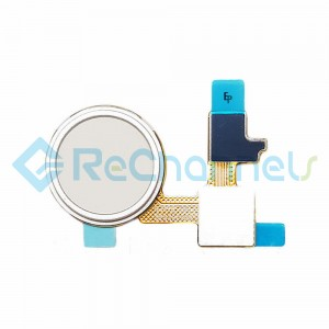 For LG Nexus 5X Home Button Flex Cable Ribbon Replacement - White - Grade S+