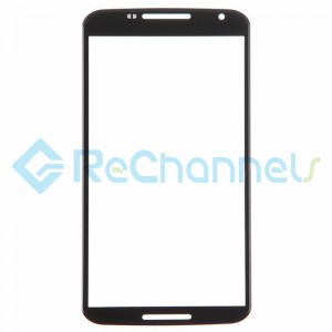 For Motorola Nexus 6 Glass Lens Replacement - Black - Grade R