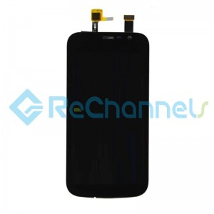 For Nokia 1 LCD Screen and Digitizer Assembly Replacement - Black - With Logo - Grade S+