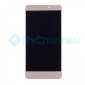 For Xiaomi Redmi Note 4 LCD Screen and Digitizer Assembly with Front Housing Replacement - Gold - Grade S
