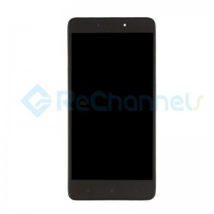 For Xiaomi Redmi Note 4 LCD Screen and Digitizer Assembly with Front Housing Replacement - Black - Grade S