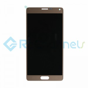 For Samsung Galaxy Note 4 Series LCD Screen and Digitizer Assembly Replacement - Gold - Grade S+