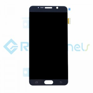 For Samsung Galaxy Note 5 Series LCD and Digitizer Assembly with Stylus Sensor Film Replacement - Black - Grade S+