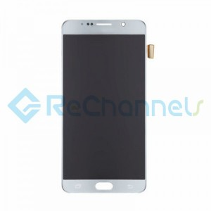 For Samsung Galaxy Note 5 Series LCD and Digitizer Assembly with Stylus Sensor Film Replacement - Silver - Grade S