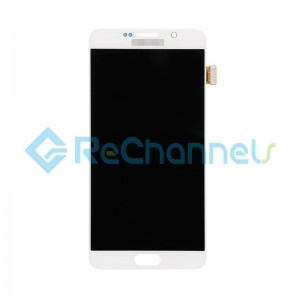 For Samsung Galaxy Note 5 Series LCD and Digitizer Assembly with Stylus Sensor Film Replacement - White - Grade S