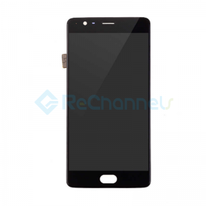 For OnePlus 3T LCD Screen and Digitizer Assembly with Front Housing Replacement - Black - Grade S+