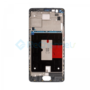 For OnePlus 3/3T LCD Supporting Frame Replacement - Black - Grade S+