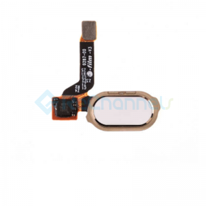 For OnePlus 3/3T Home Button Flex Cable Ribbon Replacement - White - Grade S+