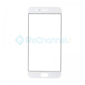 For OnePlus 5 LCD Front Glass Lens Replacement - White - Grade S+