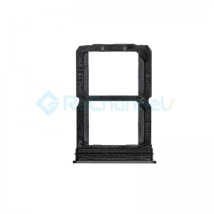 For OnePlus 6 SIM Card Tray Replacement - Mirror Black - Grade S+