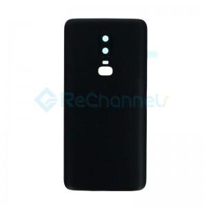 For OnePlus 6 Battery Door Replacement - Midnight Black - Grade S+