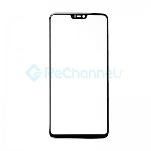 For OnePlus 6 Front Glass Replacement - Black - Grade S+