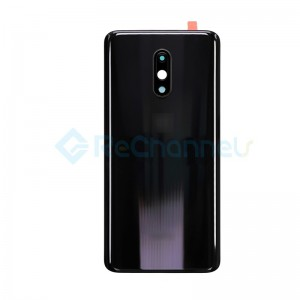 For OnePlus 7 Battery Door Replacement - Black - Grade S+