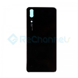 For Huawei P20 Battery Door Replacement - Black - Grade S+
