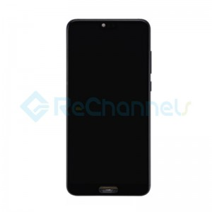 For Huawei P20 Pro LCD Screen and Digitizer Assembly with Front Housing Replacement - Black - With Logo - Grade S+