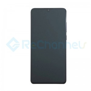 For Huawei P30 LCD Screen and Digitizer Assembly with Front Housing Replacement - Black - Grade S+
