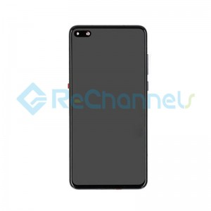 For Huawei P40 LCD Screen and Digitizer Assembly with Front Housing Replacement - Black - Grade S+