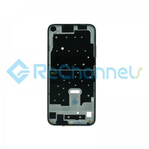 For Huawei P40 Lite Front Housing Replacement - Black - Grade S+