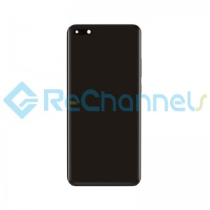 For Huawei P40 Pro LCD Screen and Digitizer Assembly with Front Housing Replacement - Black - Grade S+