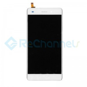 For Huawei P8 Lite LCD Screen and Digitizer Assembly with Front Housing Replacement - White - Grade S+