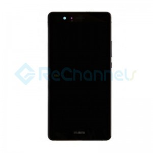 For Huawei P9 lite LCD and Digitizer Assembly with Front Housing Replacement - Black - Grade S