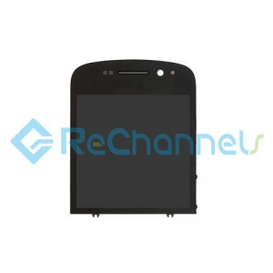 For Blackberry Q10 LCD Screen and Digitizer Assembly Replacement - Black - Grade S