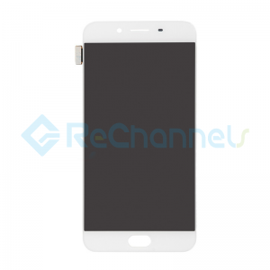For Oppo R9s LCD Screen and Digitizer Assembly Replacement - White - Grade S+