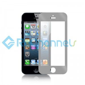For Apple iPhone 5/5S/5C Tempered Glass Screen Protector  (Chrome Series) (Silver)