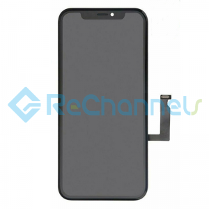 For Apple iPhone XR LCD Screen and Digitizer Assembly Replacement - Black - Grade R