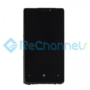 For Nokia Lumia 920 LCD Screen and Digitizer Assembly with Front Housing Replacement - Black - Grade S+