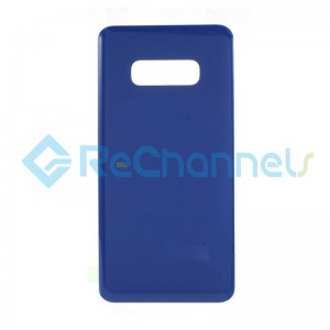 For Samsung Galaxy S10 SM-G973 Battery Door with Adhesive Replacement - Dark Blue - Grade R