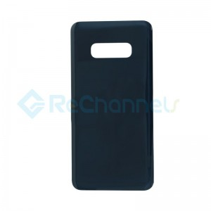 For Samsung Galaxy S10E SM-G970 Battery Door with Adhesive Replacement - Prism Black - Grade R