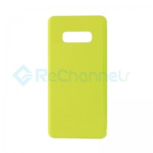 For Samsung Galaxy S10E SM-G970 Battery Door with Adhesive Replacement - Yellow - Grade R