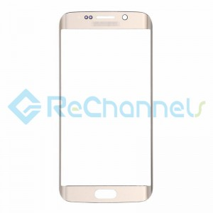 For Samsung Galaxy S6 Edge  Glass Lens Replacement - Gold - Grade S+