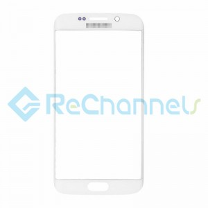 For Samsung Galaxy S6 Edge Glass Lens Replacement - White - Grade S+