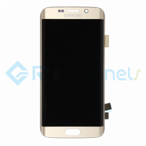 For Samsung Galaxy S6 Edge LCD Screen and Digitizer Assembly Replacement - Gold - Grade S