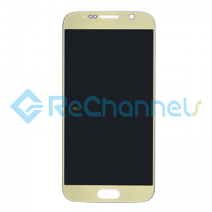 For Samsung Galaxy S6 LCD Screen and Digitizer Assembly Replacement - Gold - Grade S+