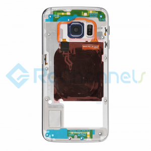 For Samsung Galaxy S6 SM-G920A/G920T Rear Housing with Small Parts Replacement - Black - Grade S+