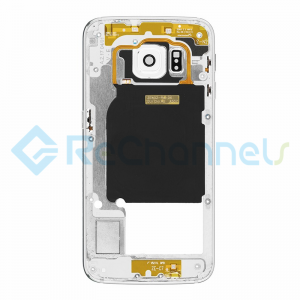 For Samsung Galaxy S6 Edge SM-G925A/G925T Rear Housing With Small Parts Replacement - White - Grade S+
