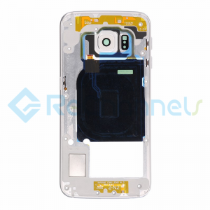 For Samsung Galaxy S6 Edge SM-G925V/G925P Rear Housing With Small Parts Replacement - White - Grade S+