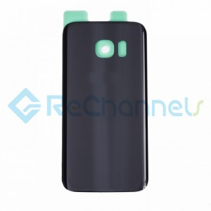 For Samsung Galaxy S7 Battery Door with Adhesive Replacement - Black -Grade S+