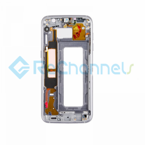 For Samsung Galaxy S7 Edge  Rear Housing Replacement - Black - Grade S+